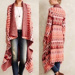 Anthropologie Sleeping on Snow Blanket Cardigan